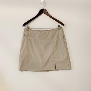 PATAGONIA Tan Skort Nylon With Zipper Pocket